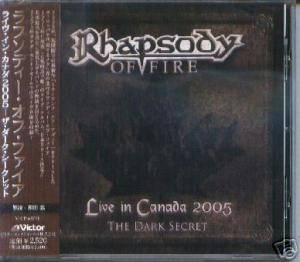 Rhapsody Of Fire: Live In Canada 2005 - The Dark Secret - Cover