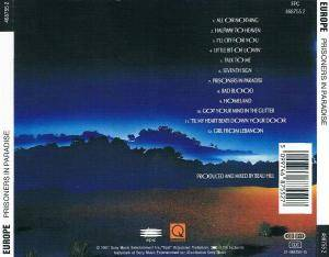 Europe: Prisoners In Paradise (CD) - Bild 3