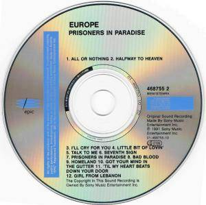 Europe: Prisoners In Paradise (CD) - Bild 4