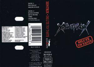 Xentrix: Dilute To Taste - Cover
