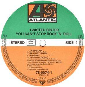 Twisted Sister: You Can't Stop Rock'n'Roll (LP) - Bild 3