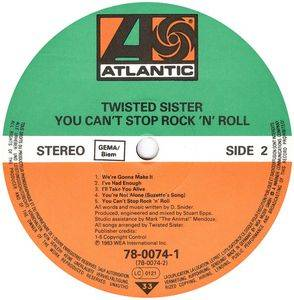 Twisted Sister: You Can't Stop Rock'n'Roll (LP) - Bild 4