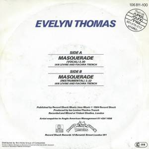 "Evelyn Thomas: Masquerade (7"") - Bild 2"