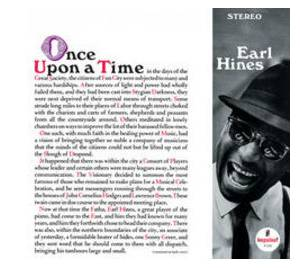 Earl Hines: Once Upon A Time - Cover