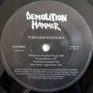 Demolition Hammer: Tortured Existence (LP) - Bild 4