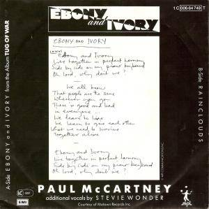 "Paul McCartney & Stevie Wonder / Paul McCartney: Ebony And Ivory (Split-7"") - Bild 2"