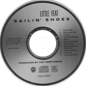 little feat sailin 39 shoes cd 1995 re release remastered. Black Bedroom Furniture Sets. Home Design Ideas