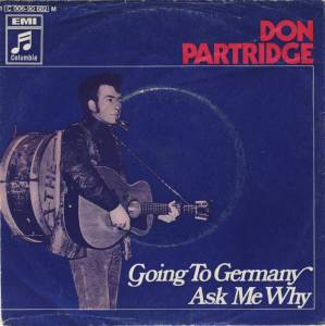 Cover - Don Partridge: Going To Germany