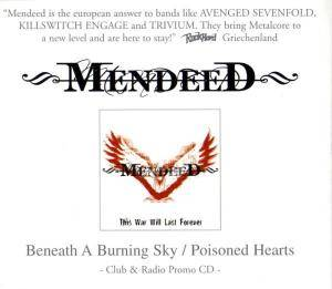Mendeed: Beneath A Burning Sky / Poisoned Hearts - Cover