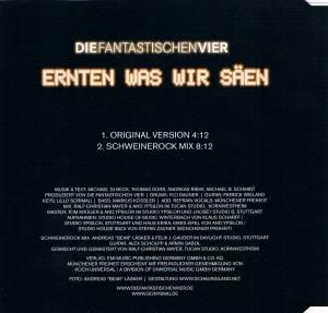 Die Fantastischen Vier: Ernten Was Wir Säen (Single-CD) - Bild 3