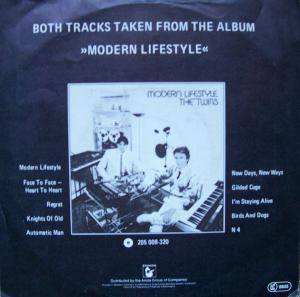 "The Twins: Face To Face - Heart To Heart (7"") - Bild 2"