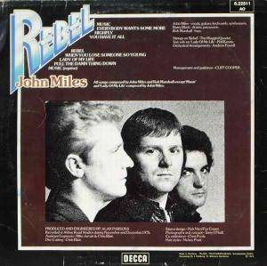 John Miles: Rebel (LP) - Bild 2