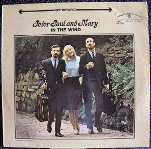 Peter, Paul And Mary: In The Wind - Cover