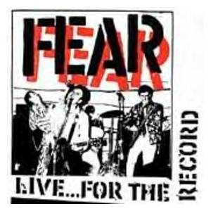 Cover - Fear: Live...For The Record