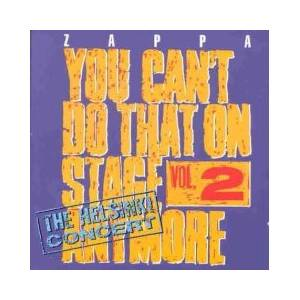 Frank Zappa: You Can't Do That On Stage Anymore Vol. 2 - Cover