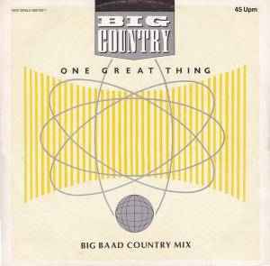 Big Country: One Great Thing - Cover
