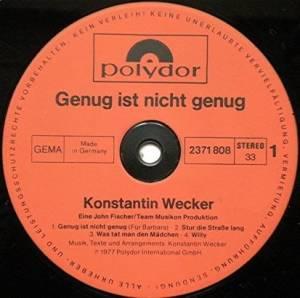 Konstantin Wecker: Genug Ist Nicht Genug (LP) - Bild 3