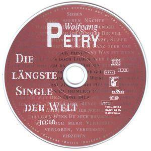 wolfgang petry die l ngste single der welt single cd 1996. Black Bedroom Furniture Sets. Home Design Ideas
