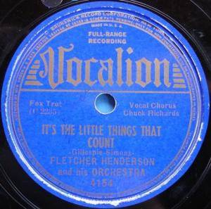 Cover - Fletcher Henderson: It's The Little Things That Count