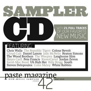Cover - Hayes Carll: paste magazine New - Music Sampler 42: May 2008