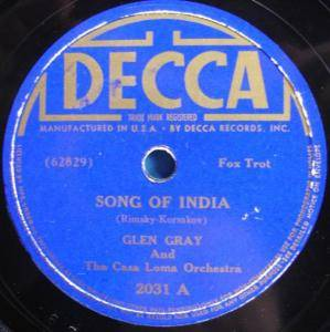Cover - Glen Gray & The Casa Loma Orchestra: Song Of India