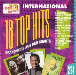 Cover - Haddaway: 18 Top Hits Aus Den Charts - 2/94