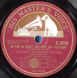 Cover - Fletcher Henderson: Do You Or Don't You Love Me / Where There's You, There's Me