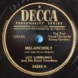 Guy Lombardo & His Royal Canadians: Melancholy - Cover