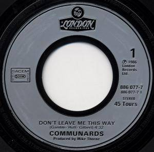 "The Communards: Don't Leave Me This Way (7"") - Bild 3"