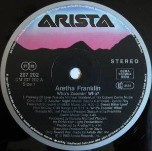 Aretha Franklin: Who's Zoomin' Who? (LP) - Bild 3