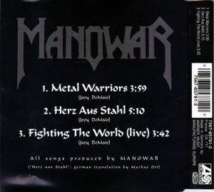 Manowar: Metal Warriors (Single-CD) - Bild 2