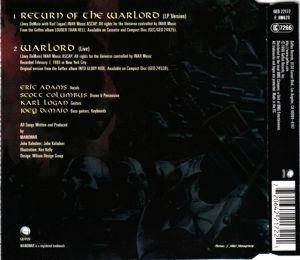 Manowar: Return Of The Warlord (Single-CD) - Bild 2
