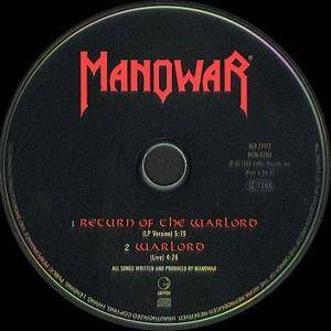 Manowar: Return Of The Warlord (Single-CD) - Bild 3