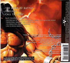 Manowar: The Dawn Of Battle (Single-CD) - Bild 2