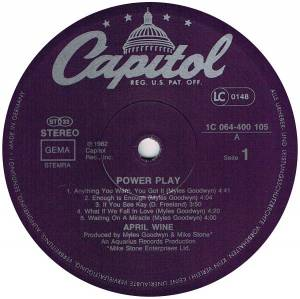 April Wine: Power Play (LP) - Bild 3