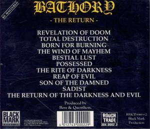 Bathory: The Return...... (CD) - Bild 3