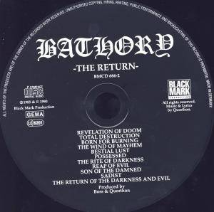 Bathory: The Return...... (CD) - Bild 4
