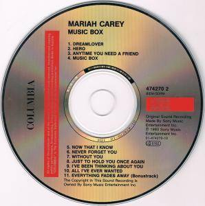 mariah carey music box cd 1993. Black Bedroom Furniture Sets. Home Design Ideas