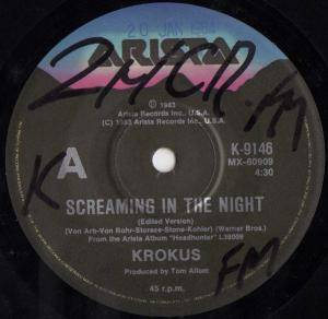 Krokus: Screaming In The Night - Cover