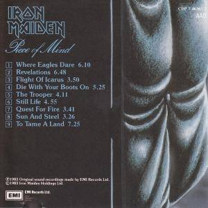 Iron Maiden: Piece Of Mind (CD) - Bild 3