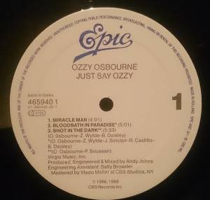 "Ozzy Osbourne: Just Say Ozzy (12"") - Bild 3"