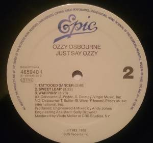 "Ozzy Osbourne: Just Say Ozzy (12"") - Bild 4"