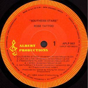 Rose Tattoo: Southern Stars (LP) - Bild 3