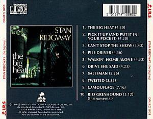 Stan Ridgway: The Big Heat (CD) - Bild 2