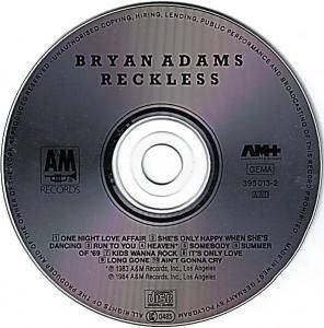 Bryan Adams: Reckless (CD) - Bild 4