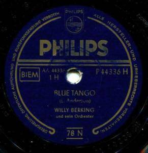 Cover - Willy Berking: Blue Tango