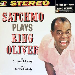 Louis Armstrong: Satchmo Plays King Oliver - Cover
