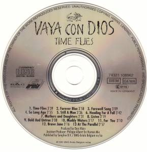 Vaya Con Dios: Time Flies (CD) - Bild 3