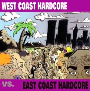 Cover - Adamantium: West Coast Hardcore Vs. East Coast Hardcore