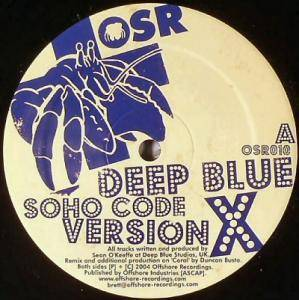 Cover - Deep Blue: Soho Code (Version X)